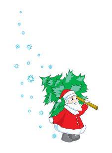 Free Santa Claus And Christmas Tree Royalty Free Stock Photography - 17076347