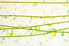 Free Stained Glass Yellow Green Confetti Fused Royalty Free Stock Images - 17076519
