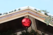 Free Christmas Decorations On The Roof Stock Photo - 17076760