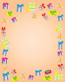 Free The Background Is A Lot Of Gifts Stock Images - 17077014