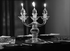 Free Candle Lights On The Table Royalty Free Stock Images - 17077019