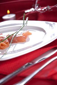Free Smoked Salmon For Christmas Stock Image - 17077091