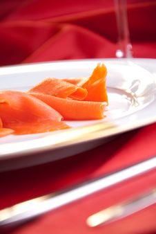Free Smoked Salmon For Christmas Royalty Free Stock Image - 17077256