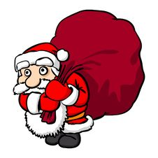 Free Santa Claus With Big Sack Stock Image - 17077431