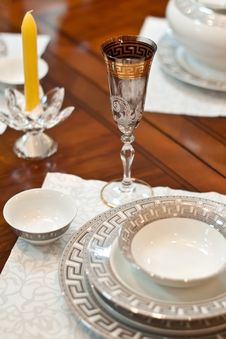 Free Decorated Table Royalty Free Stock Image - 17077926