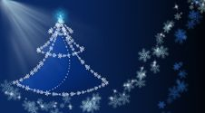 Free Background With Christmas Tree And Snowflakes Royalty Free Stock Images - 17078209
