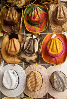 Souvenir Hats Royalty Free Stock Images