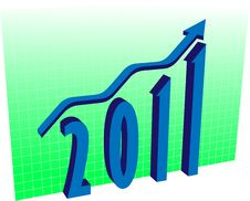 Free Graph For 2011 Royalty Free Stock Photo - 17078685