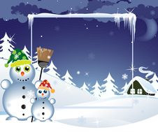 Free Funny Snowmen Stock Photos - 17078813