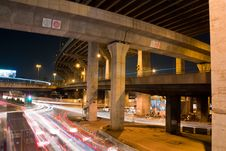 Free Express Way In The Night Royalty Free Stock Images - 17079089