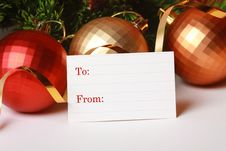 Free Blank Christmas Paper Tag Stock Image - 17079621