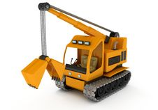 Dredge, Excavator Royalty Free Stock Image