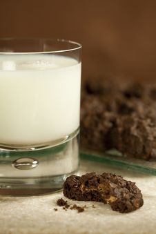 Free Cookies And Milk Stock Photos - 17080013