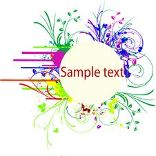 Free Abstract Vector Colorful Bunner Royalty Free Stock Photography - 17080127