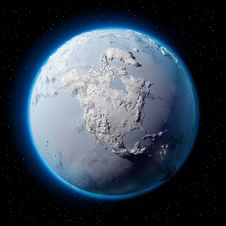 Snow Planet Earth Royalty Free Stock Photography