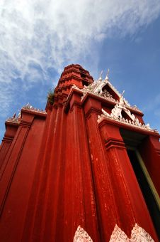 Free Red Thai Temle Royalty Free Stock Photos - 17080948