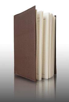 Free Brown Cover Notebook Vertically Royalty Free Stock Photos - 17081988