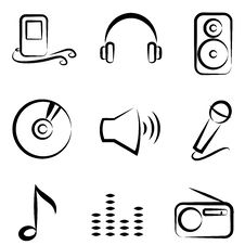 Free Music Icons Stock Images - 17082364