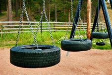 Free Automobile Tires Swings Royalty Free Stock Photo - 17082535