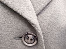 Free Grey Button On  Coat Royalty Free Stock Photography - 17082707