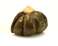 Pumpkin Filled With Steamed Custard Royalty Free Stock Photo