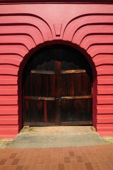 Old Door With Beautiful Arch Royalty Free Stock Photo