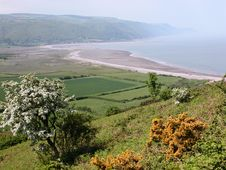Free View Over Porlock Bay In Exmoor Stock Photos - 17083533