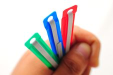 Free Paper Clips Hold In Hand Stock Photography - 17083612