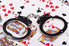Free Handcuffs With Things Gaming Royalty Free Stock Photos - 17087348