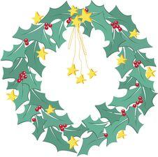 Free Christmas Holly Wreath Royalty Free Stock Photo - 17087385