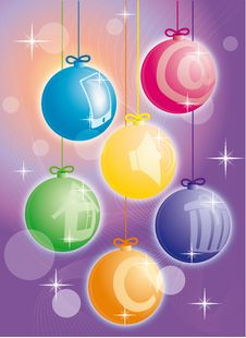 Free New Year Icons-balls Royalty Free Stock Photo - 17087745