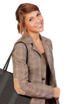 Free Girl With Bag Royalty Free Stock Image - 17087756