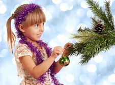 Free Girl With Bauble Royalty Free Stock Photography - 17087767
