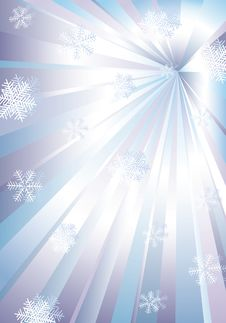Snowflakes And Rays. Stock Photography