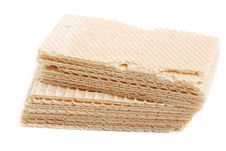 Pile Dry Waffleses Royalty Free Stock Images