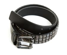 Free Black Leather Belt With Steel Buckle Stock Photo - 17088060