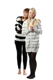 Portrait Two Girls Royalty Free Stock Images