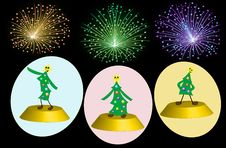 Free Party Of Three Trees Royalty Free Stock Photography - 17088947