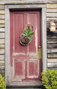 Free Old Red Wooden House Door Royalty Free Stock Photos - 17094488