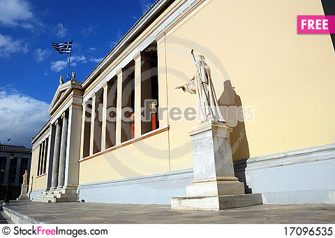 Free University Of Athens - The Main Building (Greece) Royalty Free Stock Photo - 17096535