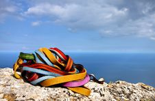 Free Colored Ropes On The Rock Stock Photos - 17090253
