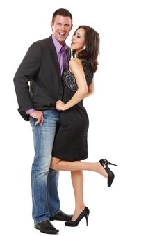 Free Handsome Guy With A Sexy Woman In Studio Stock Images - 17090414