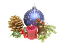 Free Christmas Ornaments And Foliage Stock Image - 17090581