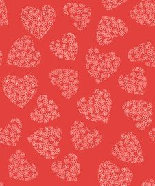 Free Red Background With Hearts Royalty Free Stock Images - 17090659