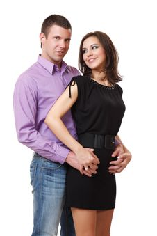 Portrait Of A Nice Elegant Couple Royalty Free Stock Image