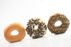 Free Assorted Donuts On A White Background Royalty Free Stock Photos - 17091198