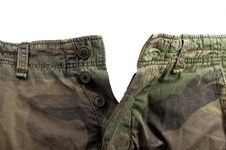 Camouflage Pattern Trousers With Clipping Path Stock Photography