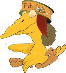 Free Yellow Ridiculous Bird Stock Photo - 17091360