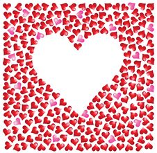 Set Of Hearts Stock Images