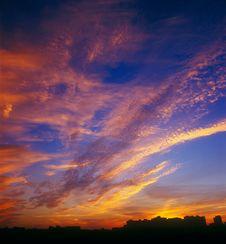 Free Mystical Sunset. Stock Photos - 17092083